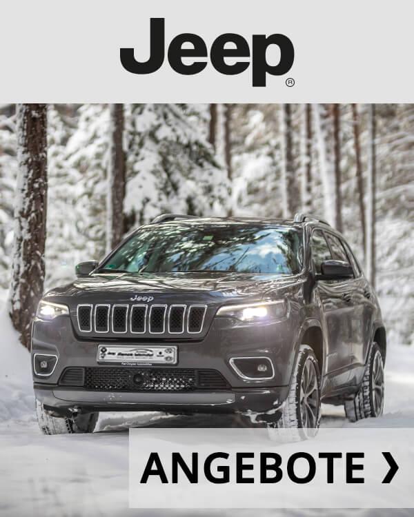 Autohaus Renck-Weindel - Jeep Cherokee Anthrazit im Schnee mit Angebot Logo
