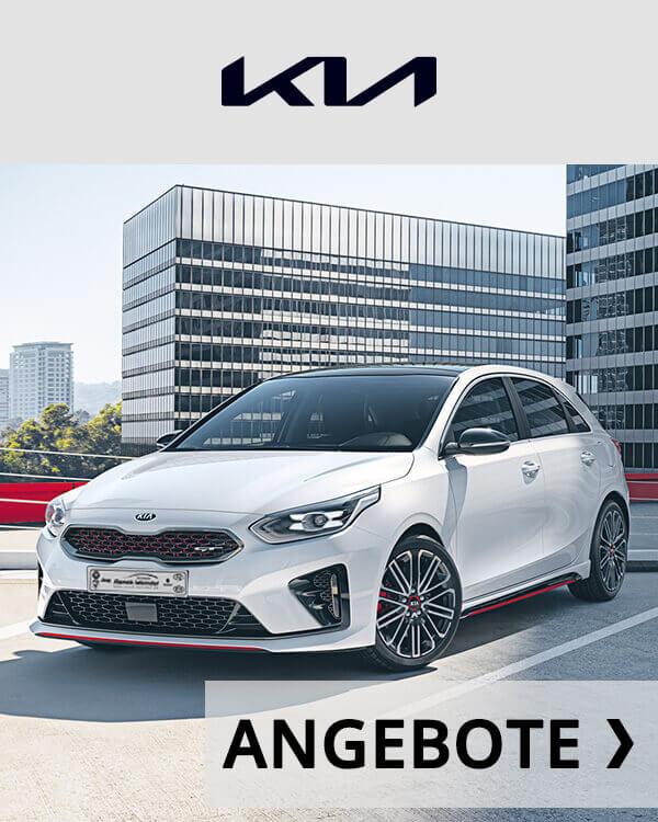 Autohaus Renck-Weindel - Kia Ceed weiß mit Angebots Logo