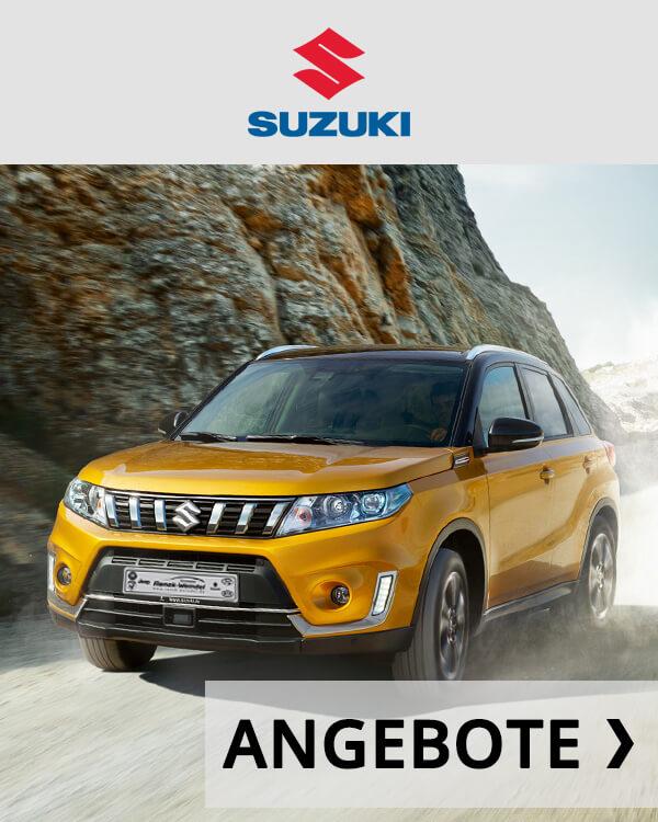 Autohaus Renck-Weindel - Suzuki Vitara gelbt mit Angebots Logo