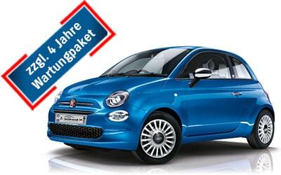 Autohaus Renck-Weindel - Fiat 500 Hybrid blau