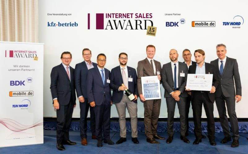3. Platz Internet Sales Award - Autohaus Renck-Weindel