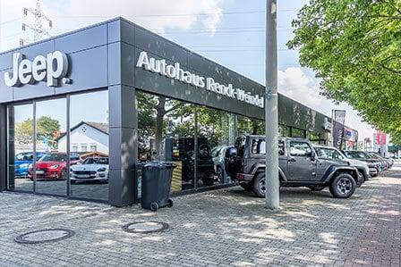 Außenansicht Jeep Filiale Ludwigshafen - Autohaus Renck-Weindel