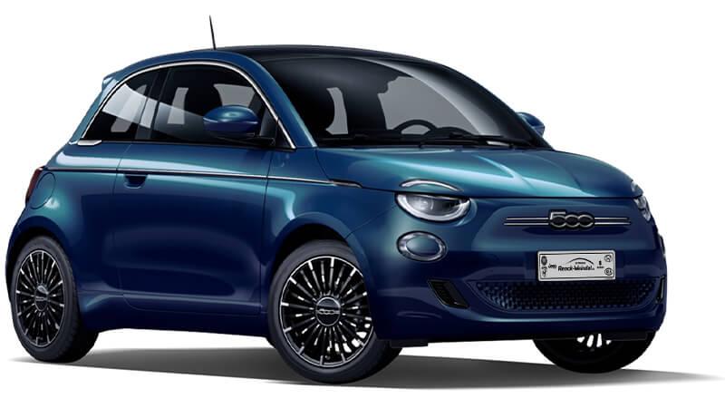 Fiat 500e Elektro Kennzeichen neu