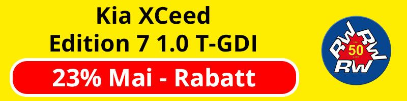Kia XCeed Edition 7 1.0 T-GDI - 23% Mai-Rabatt